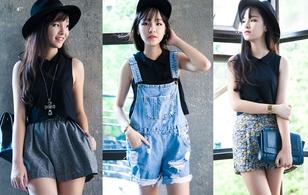 How to: 4 cách mix&match xinh xắn với 1 chiếc áo phông đen