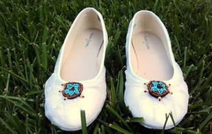 Tút giày búp bê thành giày ren nữ tính