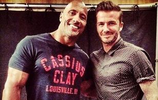 """David Beckham hớn hở chụp ảnh cùng """"Vua bọ cạp"""""""