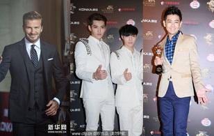 EXO-M nổi bật bên dàn mỹ nam đình đám trên thảm đỏ