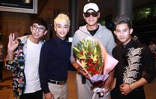 HKT ra tận sân bay đón ngôi sao TVB Mã Đức Chung