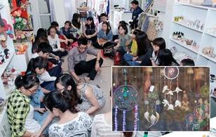 Cận cảnh một lớp học làm dreamcatcher của giới trẻ Hà Nội