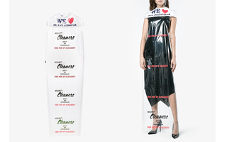 Mẫu áo choàng hàng hiệu trông giống túi nilon nhưng có giá gần 17 triệu đồng