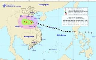 Bão số 10 tiến sâu vào Lào, suy yếu thành áp thấp nhiệt đới