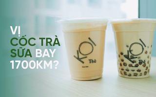 Bây giờ người ta còn nhận ship cả trà sữa từ Nam ra Bắc: Koi hay Phúc Long cũng đều có cả