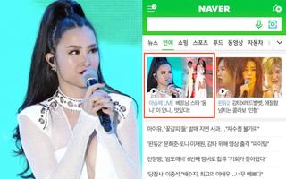 """Chuyện hiếm có: Đông Nhi lên luôn trang chủ cổng thông tin lớn nhất Hàn Quốc sau màn biểu diễn đẳng cấp tại """"Asia Song Festival"""""""