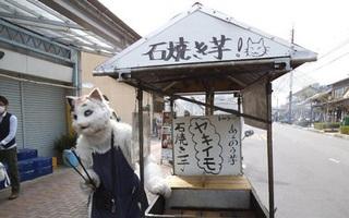 Shop mèo bán khoai lang nổi tiếng khắp xứ Mặt trời mọc