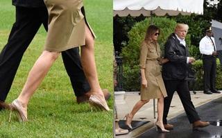 Bất chấp dư luận xôn xao, Đệ nhất phu nhân Melania Trump vẫn đi giày cao gót trở lại vùng bão Harvey