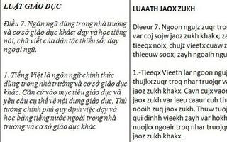 """Thêm một đề xuất cải tiến: Tiếng Việt thành """"Tieeqx Vieeth"""""""