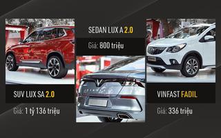 VinFast chính thức công bố giá xe mở bán đợt đầu: Sedan 800 triệu, SUV 1,136 tỷ, Fadil 336 triệu đồng
