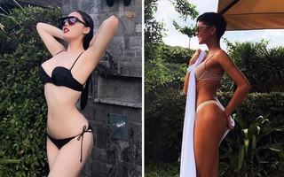 Cùng khoe dáng táo bạo với bikini, Kỳ Duyên khiến fan bấn loạn về vòng 1, H'Hen Niê lại gây bão với vòng 3 bốc lửa