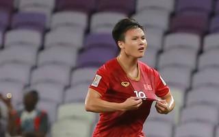 Quang Hải ăn mừng cực nhiệt khi tái hiện siêu phẩm cầu vồng tại Asian Cup 2019