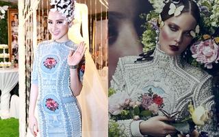 """Angela Phương Trinh lại mặc váy hàng hiệu... """"fake"""""""