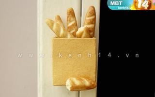 Ổ bánh mì dễ thương trang trí tủ lạnh
