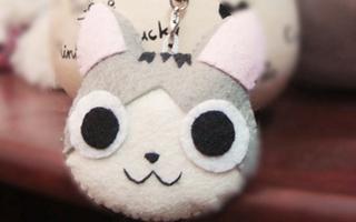 Tỉ mẩn làm móc khóa mèo Chii nhắng nhít
