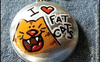 Lấy vỏ lon nước ngọt làm móc khóa mèo béo