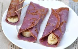 Pancake khoai lang thơm bùi ngòn ngọt
