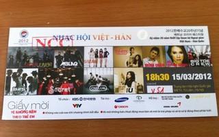 Làm cách nào để xác định vé thật giả của Kpop concert 15/3?