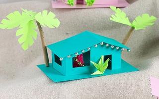 Làm mô hình ngôi nhà đẹp như thật bằng giấy để trang trí bàn