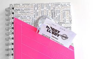 Biến hóa sổ tay đa năng với túi đựng giấy note độc đáo
