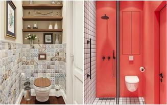 """Cách sắp xếp thông minh cho nhà tắm, nhà vệ sinh """"siêu nhỏ"""""""