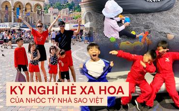 """Kỳ nghỉ hè xa hoa của các nhóc tỳ nhà sao Việt: Du lịch nước ngoài sang chảnh, khám phá đủ mọi trò chơi đúng chuẩn """"rich kid"""""""