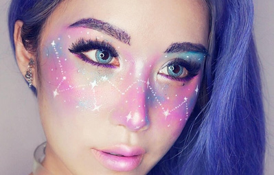 Trào lưu trang điểm biến đôi mắt thành dải thiên hà lung linh