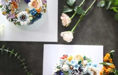 Bộ sưu tập bánh cưới hoa cỏ đẹp như thật của đầu bếp Hàn Quốc