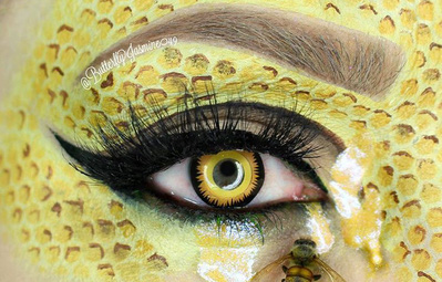 Nhặt nhạnh xác côn trùng, cô gái đã làm nên những tác phẩm make up đỉnh cao