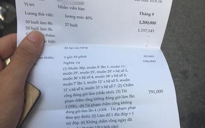 Nam nhân viên quán mỳ ở Hà Nội bức xúc vì lương 1,2 triệu/tháng bị trừ chỉ còn 245.000 đồng