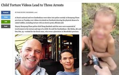 Báo Campuchia xác định danh tính thanh niên Việt Nam trong clip chích điện bạo hành dã man trẻ em