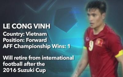 AFF gọi Công Vinh là huyền thoại của bóng đá Việt Nam