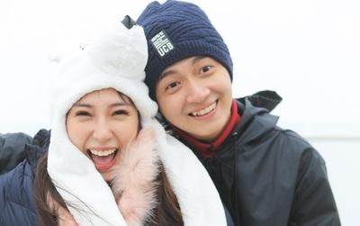 Ngô Kiến Huy làm sinh nhật bất ngờ cho Khổng Tú Quỳnh trên đỉnh Fansipan, dưới thời tiết 10 độ C