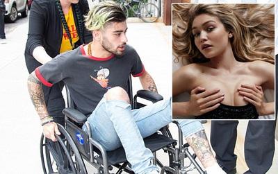 Bị thương tới mức ngồi xe lăn, Zayn vẫn cố tìm đến nhà Gigi Hadid