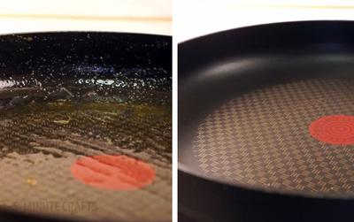 Tuyệt chiêu rửa sạch chảo đóng đầy dầu mỡ khi không có nước rửa bát