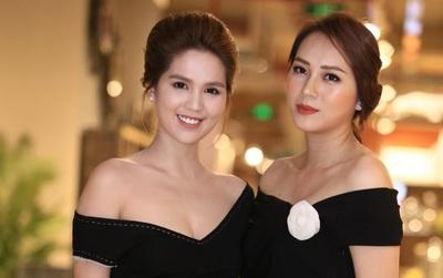 Ngọc Trinh hội ngộ siêu mẫu Ngọc Thạch, cùng khoe vai trần quyến rũ tại sự kiện
