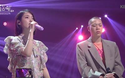 """""""Cặp đôi đánh bay mọi BXH"""" IU và Oh Hyuk hát live như nuốt đĩa trên sân khấu"""