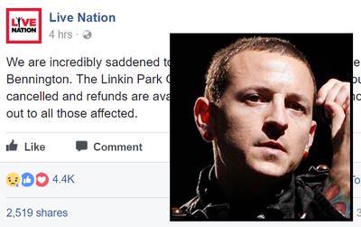 Linkin Park thông báo hủy tour sau cái chết của Chester