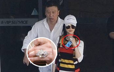 """Phạm Băng Băng """"khư khư"""" chiếc nhẫn cầu hôn kim cương 20 carat"""