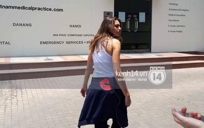 Vừa tới Sài Gòn, Celine Farach đã phải tới bệnh viện