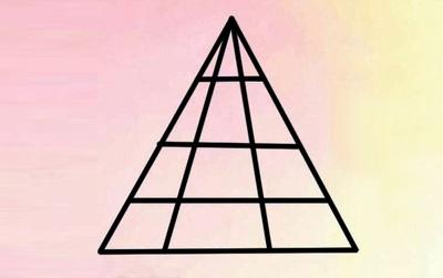 Người có tố chất thiên tài mới đếm được có bao nhiêu hình tam giác tất cả