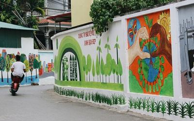 Đâu cần đến Quảng Nam mới có làng bích họa, ngay Hà Nội giờ cũng có con đường được vẽ đẹp mê ly