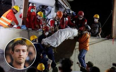 Đau buồn khi biết tin gần 300 người thiệt mạng vì động đất ở Mexico, ông chủ Facebook Mark Zuckerberg đã hành động ngay lập tức
