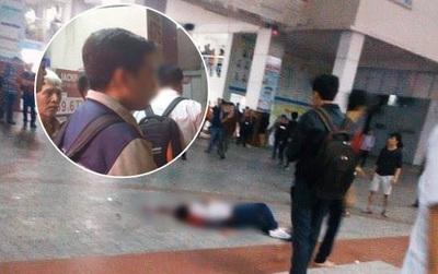 """Nhân chứng vụ nam SV HUTECH tử vong: Mảng bê tông bất ngờ rơi xuống, phát ra tiếng """"rầm"""" lớn khiến nhiều bạn hốt hoảng"""