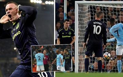 Rooney có bàn thắng thứ 200, Sterling giữ 1 điểm ở lại sân Etihad