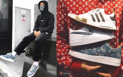 Giới chơi sneakers Việt đang phát sốt vì bộ 3 giày custom LV x Supreme đắt giá do Kiệt Quách thực hiện