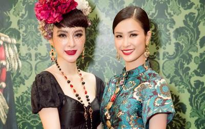 """Angela Phương Trinh ăn diện kiểu """"diễm tình"""", khoe dáng bên Đông Nhi và dàn mỹ nam tại sự kiện Dolce&Gabbana"""