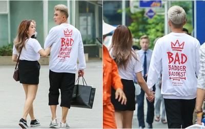 """Will diện đồ """"ton sur ton"""", vô tư """"tay trong tay"""" với bạn gái mới đi dạo phố đi bộ"""