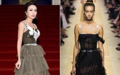 Diệu Nhi bất ngờ bị cư dân mạng tố mặc váy nhái Dior