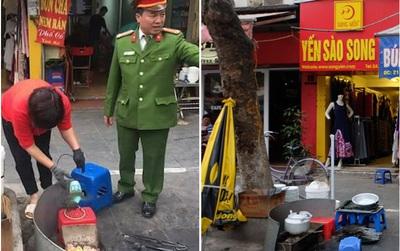 """Quận Hoàn Kiếm: Vừa vắng bóng công an đi """"giành"""" lại vỉa hè, hàng quán xe máy lại bủa vây phố cổ"""